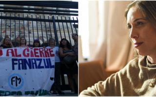 Pedido a Vidal por parte de los trabajadores de Fanazul. Foto: La Noticia1