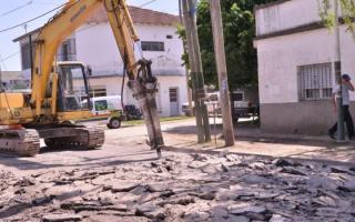 Cierre de calles por obras en Berazategui.