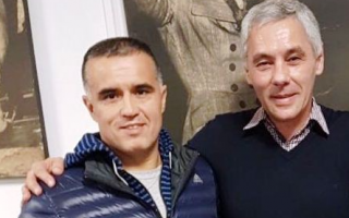Fabián Cagliardi (derecha) conel subsecretariode Tierra, Vivienda y Hábitat, Gabriel Marotte