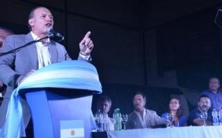 Berni lanzó su candidatura a gobernador en San Nicolás