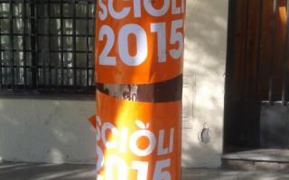 Los afiches de la campaña sciolista en Mendoza. Foto: Twitter: @ccmontero