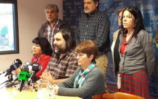 Baradel dio una conferencia de prensa en el primer día de paro de esta semana. Foto: Twitter @gabrieleiriz