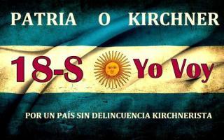 """""""Patria o Kirchner"""", reza la imagen de convocatoria. Foto: Twitter @Argentino_Antik"""