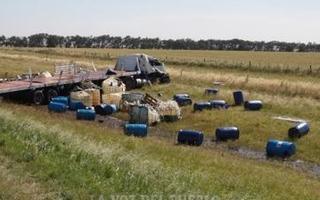 El mal estado de las banquinas en Ruta 3, uno de los factores de diversos accidentes. Foto: La Voz del Pueblo