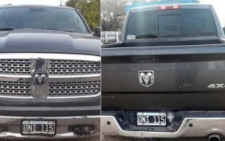 Camioneta de Rodolfo Sánchez