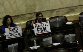 Del Caño expresó su rechazo al acuerdo con el FMI.