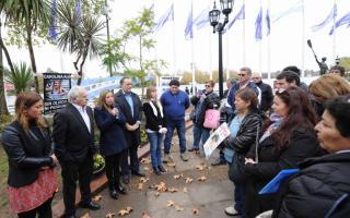 El homenaje tuvo lugar en el Paseo Victorica.