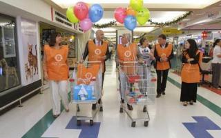 Carrefour logró recolectar más de 4.500 kilos de alimentos para 19 Bancos de Alimentos. Foto: Webretail.com.ar