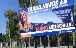 Los carteles de Magario aparecieron en La Matanza.