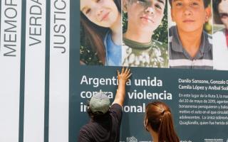 Masacre de Monte: En diciembre colocaron un cartel en memoria de las cuatro víctimas en ruta 3