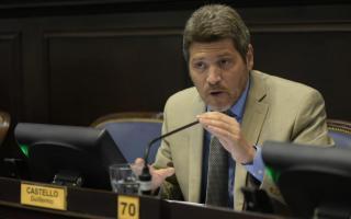 Castello presentó el proyecto en la Legislatura.
