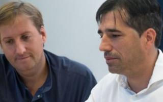 Santiago Catalán Pellet y el intendente Franco Flexas