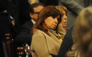 CFK en el Senado el pasado miércoles. (Foto: Clarín)