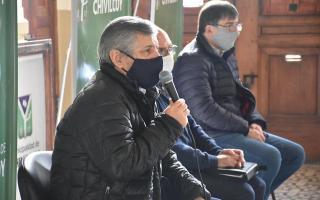 Guillermo Britos en conferencia de prensa