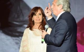 Alberto Fernández y Cristina Kirchner tras la victoria del 2019.