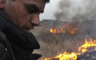 Unos 200 bomberos combatieron los focos de incendio. Foto: La Voz