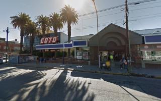 La sucursal de Coto en Quilmes centro, la más complicada.