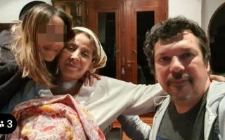 Fabián Rodríguez y familia celebraron el alta a dos meses de ingresar al hospital.
