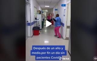 Video: Hospital de Mar de Ajó sin internados Covid por primera vez en año y medio y así lo celebró el personal