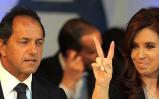 Cristina y Scioli compartieron acto en San Nicolás