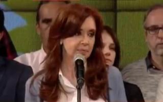 Cristina habló ante su militancia en Avellaneda.