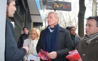 De Narváez y Arena escucharon a vecinos de Vicente López. Foto: lanoticiaweb
