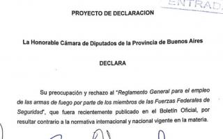 """Diputados bonaerenses de Unidad Ciudadana rechazan oficialización de la """"doctrina Chocobar"""""""