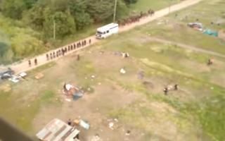 Desalojaron los terrenos ocupados en Merlo.