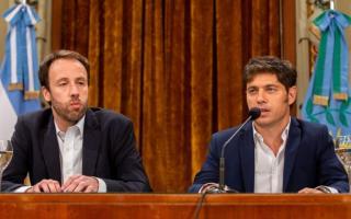 El ministro Pablo López y Kicillof.