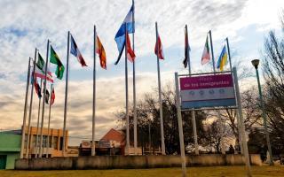 La Plaza de los Inmigrantes en Junín