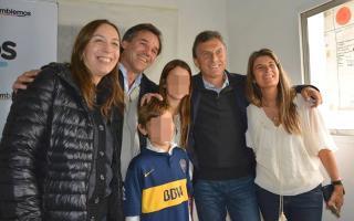 Dibetto con su esposo, Macri y Vidal
