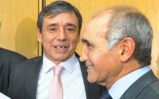 El senador Dileo y el vicegobernador Salvador.