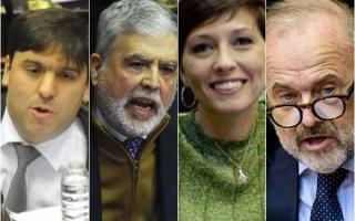 Algunos de los que se van del Congreso: Bossio, De Vido, Mendoza y Amadeo