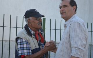 Escudero se mostró preocupado por la inseguridad que reina en el distrito. Foto: Twitter Guillermo Escudero.