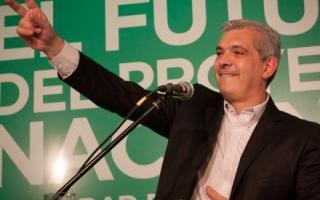 Julián Domínguez destacó a Néstor y Cristina Kirchner durante gran parte de su discurso.