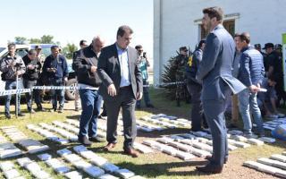 Ritondo encabezó quema pública de más de 370 kilos de cocaína en Olavarría