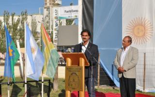 El ministro Sarquís en la apertura de la Fiesta provincial del Trigo en Tres Arroyos