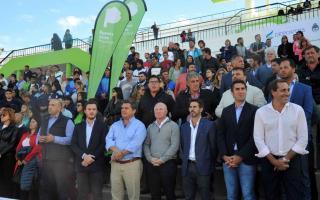 Las autoridades provinciales y nacionales en la presentación. Foto: Prensa Juegos Bonaerenses.