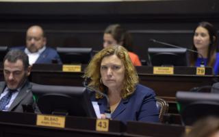 La legisladora oficialista celebró Presupuesto, Ley Fiscal y el pedido de endeudamiento.Foto: Prensa