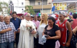 """Magario celebra """"La Navidad de los Humildes"""". Foto: Prensa"""