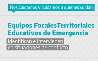 El programa crea los Equipos Focales Territoriales Educativos de Emergencia