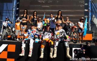 Ellis fue el primero en el podio de motos. Foto: Mxzone