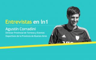 Agustín Corradini, Director de Torneos y Eventos Deportivosde la Subsecretaría de Deportes de Buenos Aires.