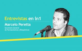 Marcelo Peretta es Secretario General de Farmacéuticos y Bioquímico, Marcelo Peretta.