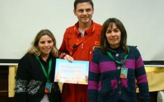 Uno de los equipos ganadores del concurso de Shell en Avellaneda