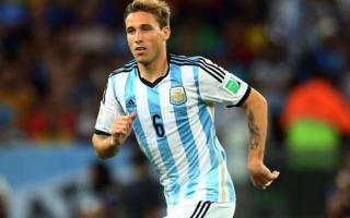 El mercedino Biglia con la camiseta de Argentina.