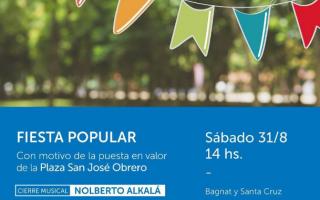 Ituzaingó: Convocan a una Fiesta popular en la Plaza San José Obrero