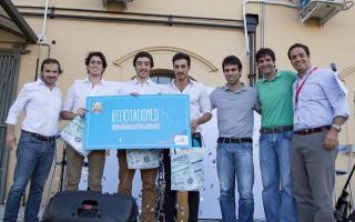 Bautista Irigoin, Ignacio Del Campo, y Lucas Moreno de la carrera de Economía Empresarial, fueron los ganadores.