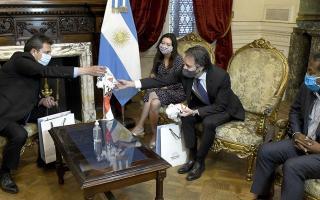 La misión argentina del FMI con el presidente de la Cámara de Diputados Sergio Massa