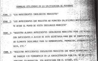El criterio de clasificación de la Junta Militar durante la última Dictadura